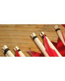 Holzpfeil traditionell mit Selfnocke