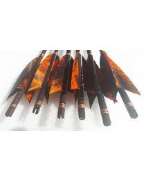 Pfeil Mittelalterpfeil FIRE black Arrow BLACK LINE