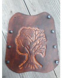 Armschutz BowBi nach Maß Lederarmschutz YGGDRASIL Lebensbaum