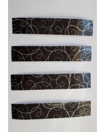 Arrow Cresting BLACK Design PFEILCRESTING 15x3,5 cm 3er Pack