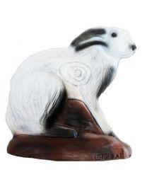 Leitold 3D-Ziel Tier sitzender Schneehase Hase