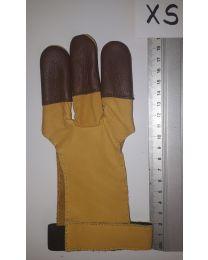 Handschuh Hunter GELB-braun XS