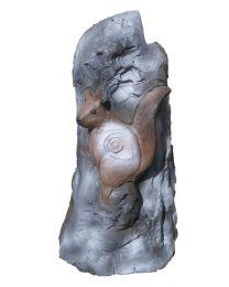 Leitold 3D-Ziel  Stein mit Eichhorn und Marder zwei in Einem