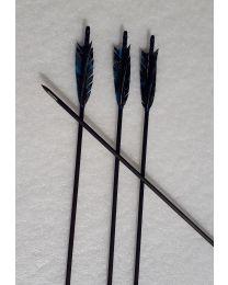 Pfeil Mittelalterpfeil MINERVA black Arrow BLACK LINE