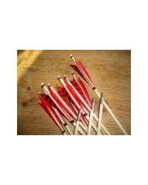 Pfeil individuell erstellen - Holzpfeil traditionell mit Selfnocke - Freccia Legno