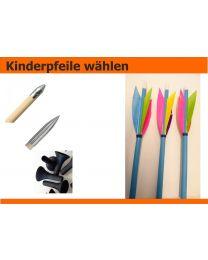 Holzpfeile ELFENPFEILE schöne Pfeile für Kinder mit verschiedenen Spitzen 5/16