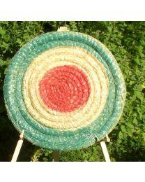 Strohscheibe 80 cm strong farbig Zielscheibe aus Stroh extra dick Straw Disc